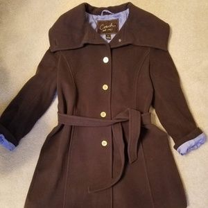 Coach Belted Wool Day Coat